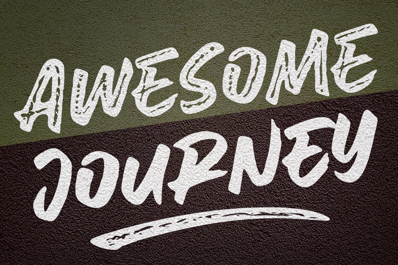 Awesome Journey Brush Font example image 14