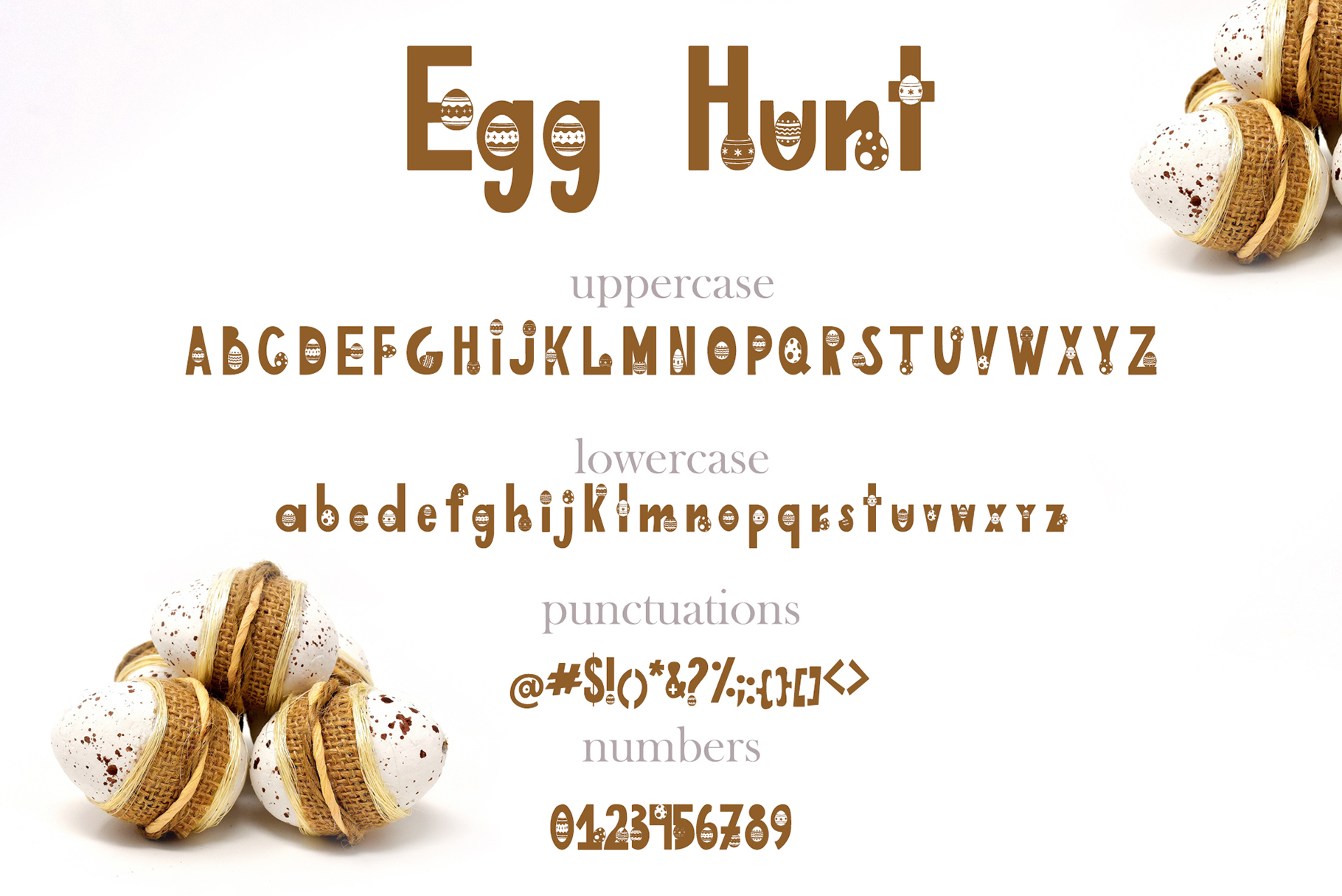 Egg Hunt-decorated font example image 3