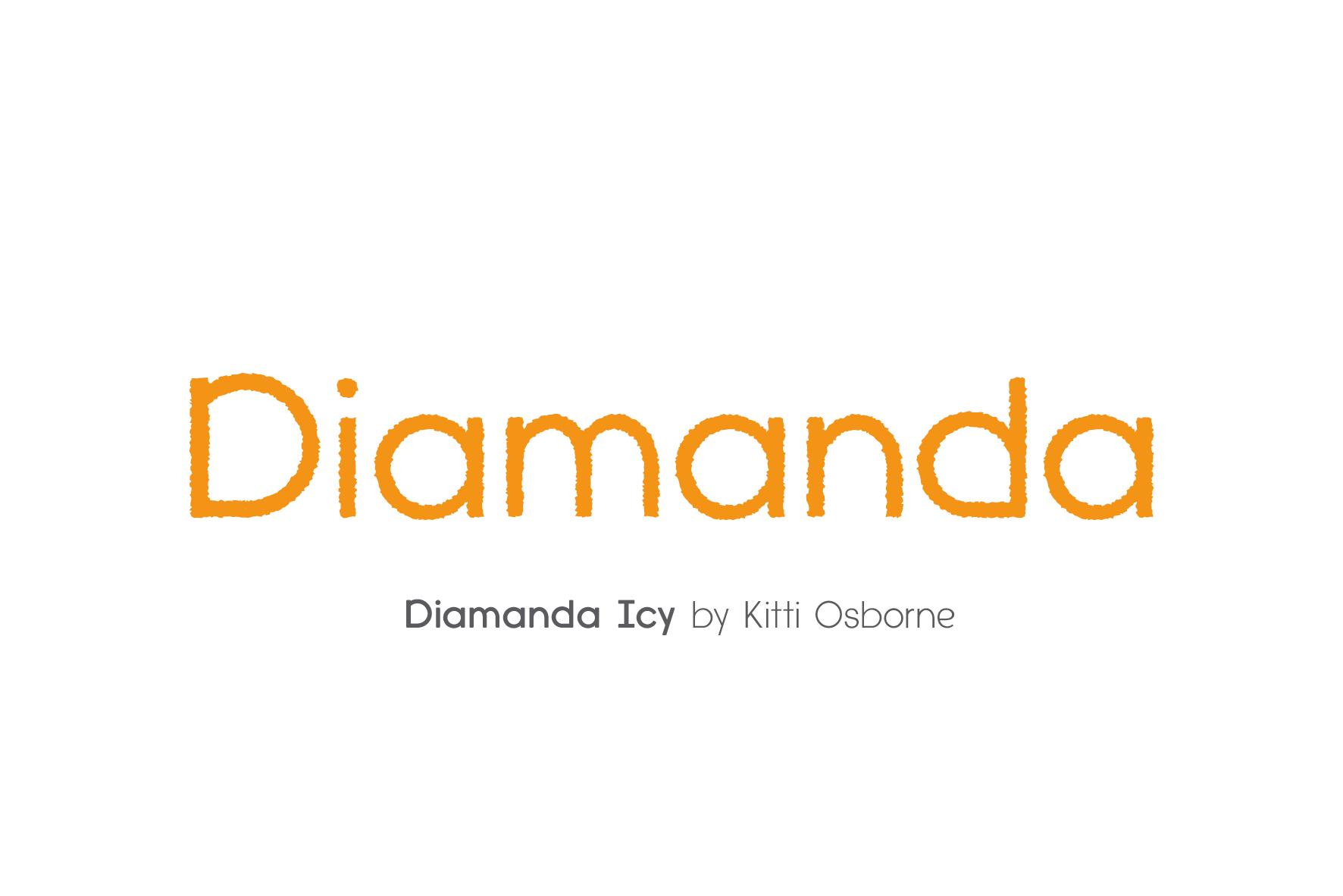 Diamanda Font Family Bundle includes 6 crafting fonts example image 9