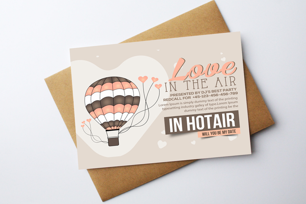 Valentine Love Card Template example image 2