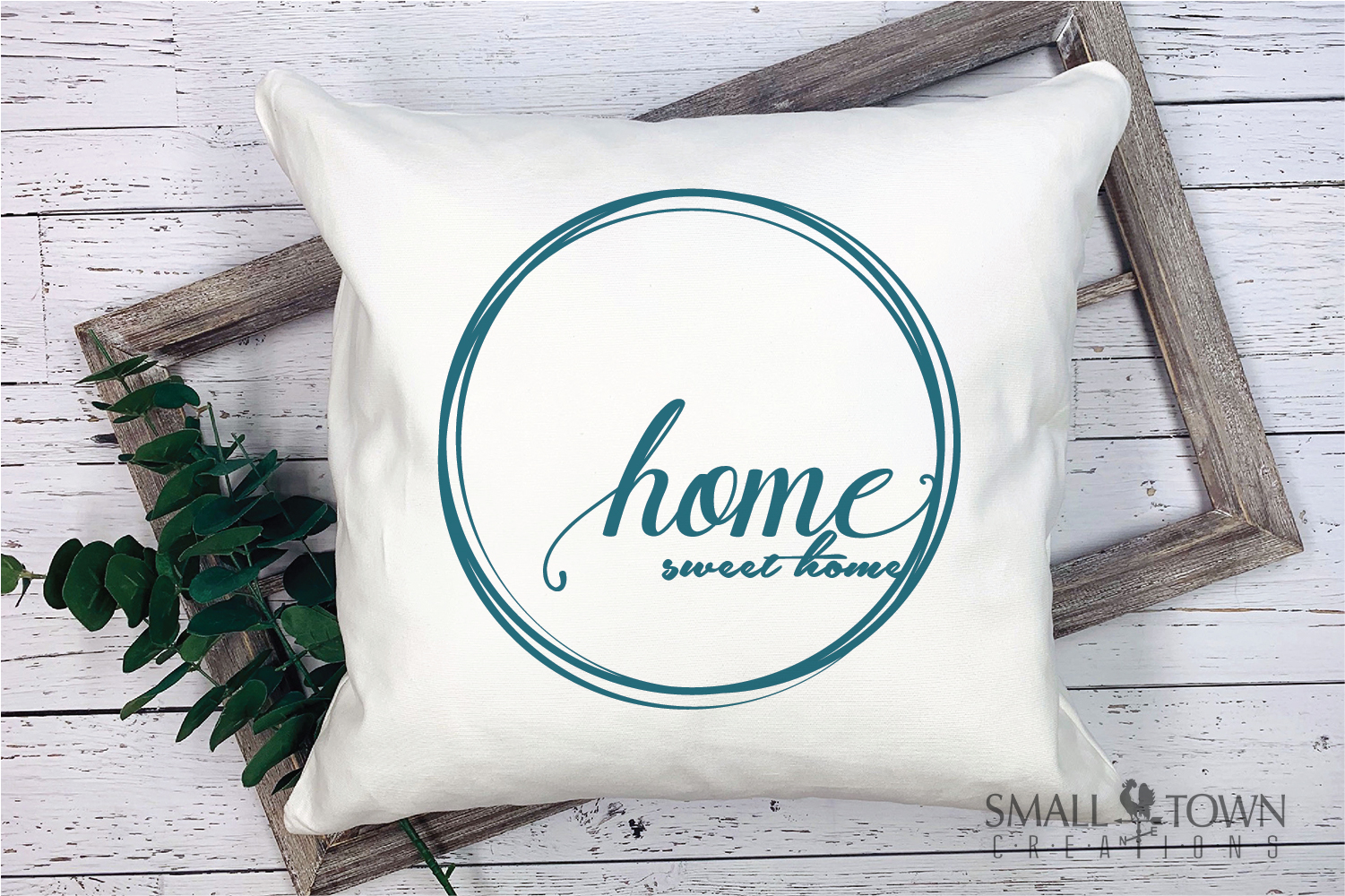 Home, Welcome, Blessed, Wreath, PRINT, CUT & DESIGN example image 3