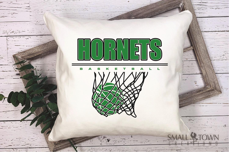 Hornet Basketball, Sport ball, team logo, PRINT, CUT, DESIGN example image 3
