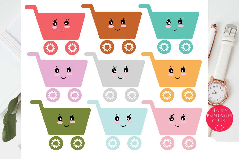 Kawaii Cart Clipart-Shopping Cart Clipart Graphics example image 2