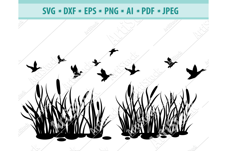 Flock of Birds SVG, Flying birds Svg, Animal Dxf, Png, Eps example image 1