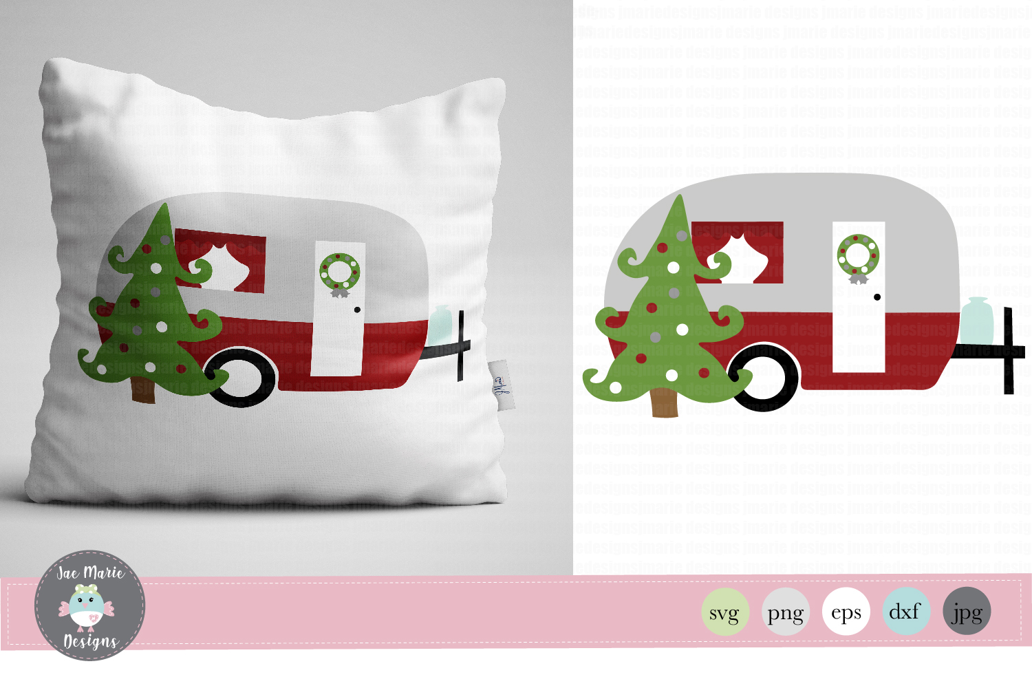 Christmas Camper svg, Christmas rv, holiday sublimation example image 1