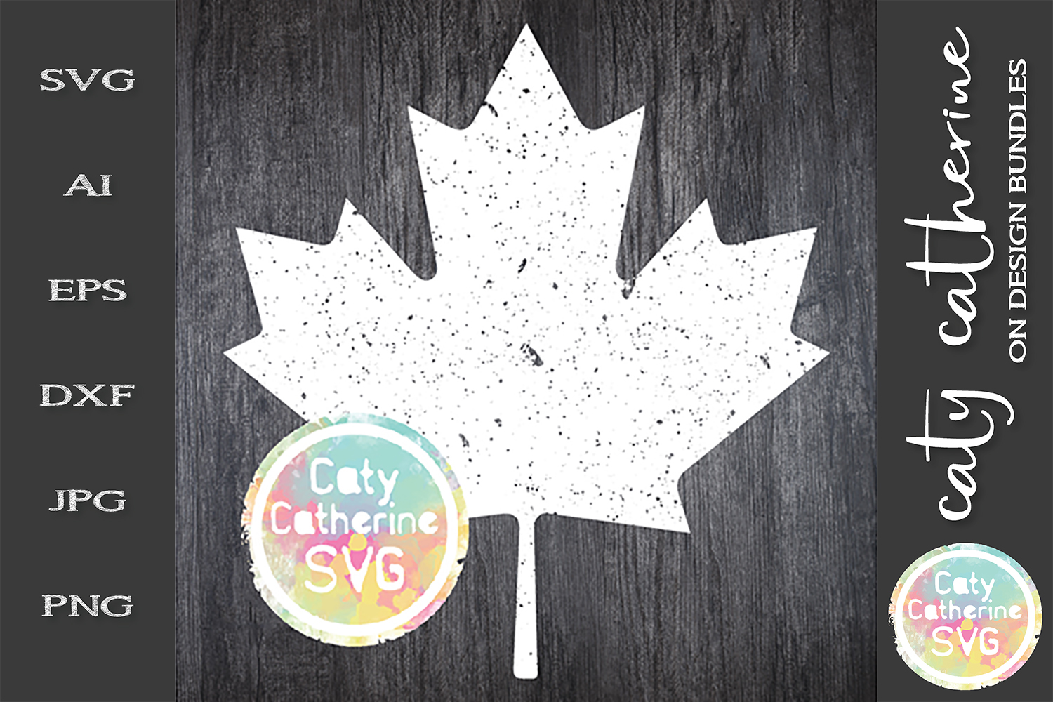 Distressed Canadian Maple Leaf Canada Day SVG Cut File example image 1