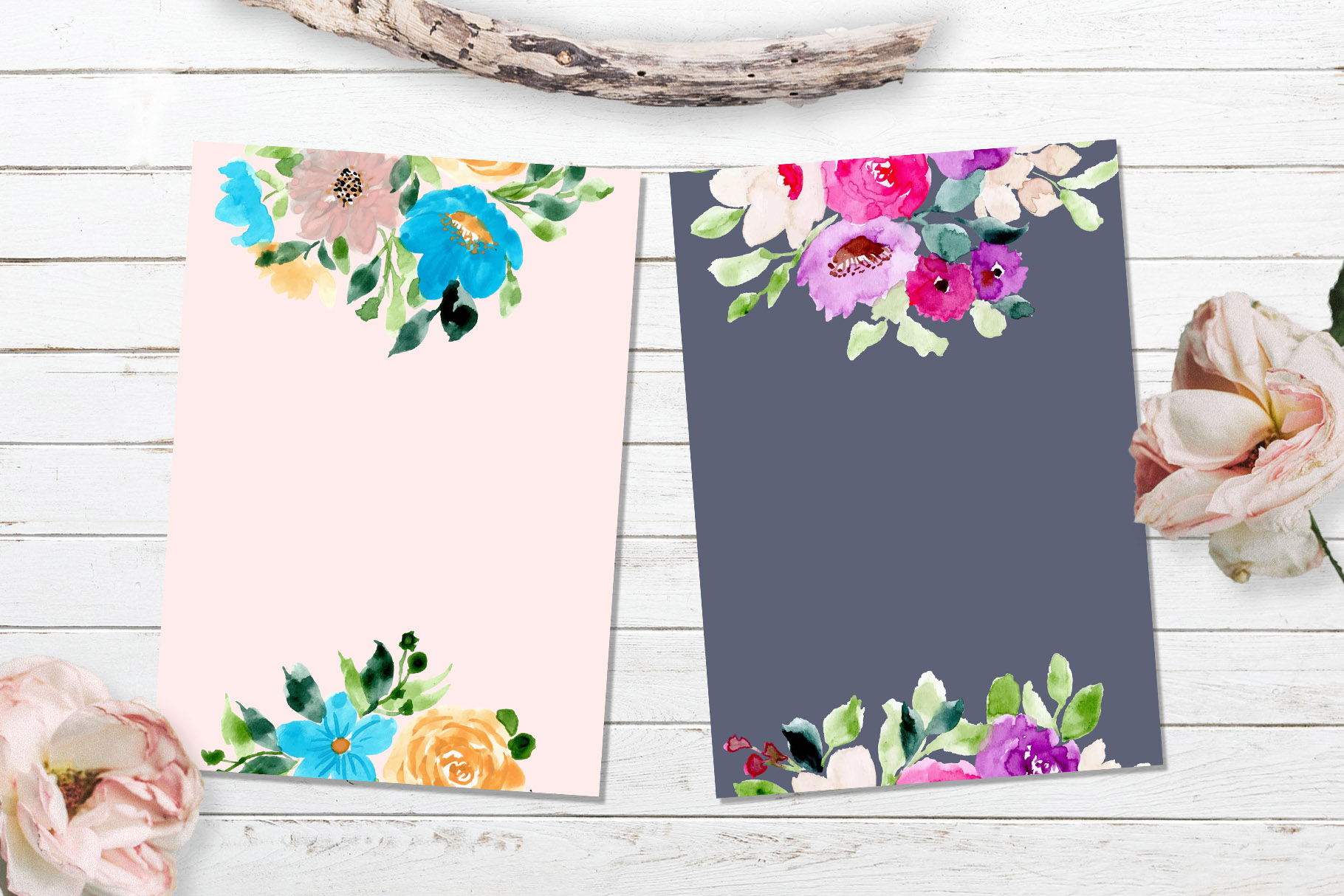 Floral Invitation Backgrounds Vol.3 example image 2
