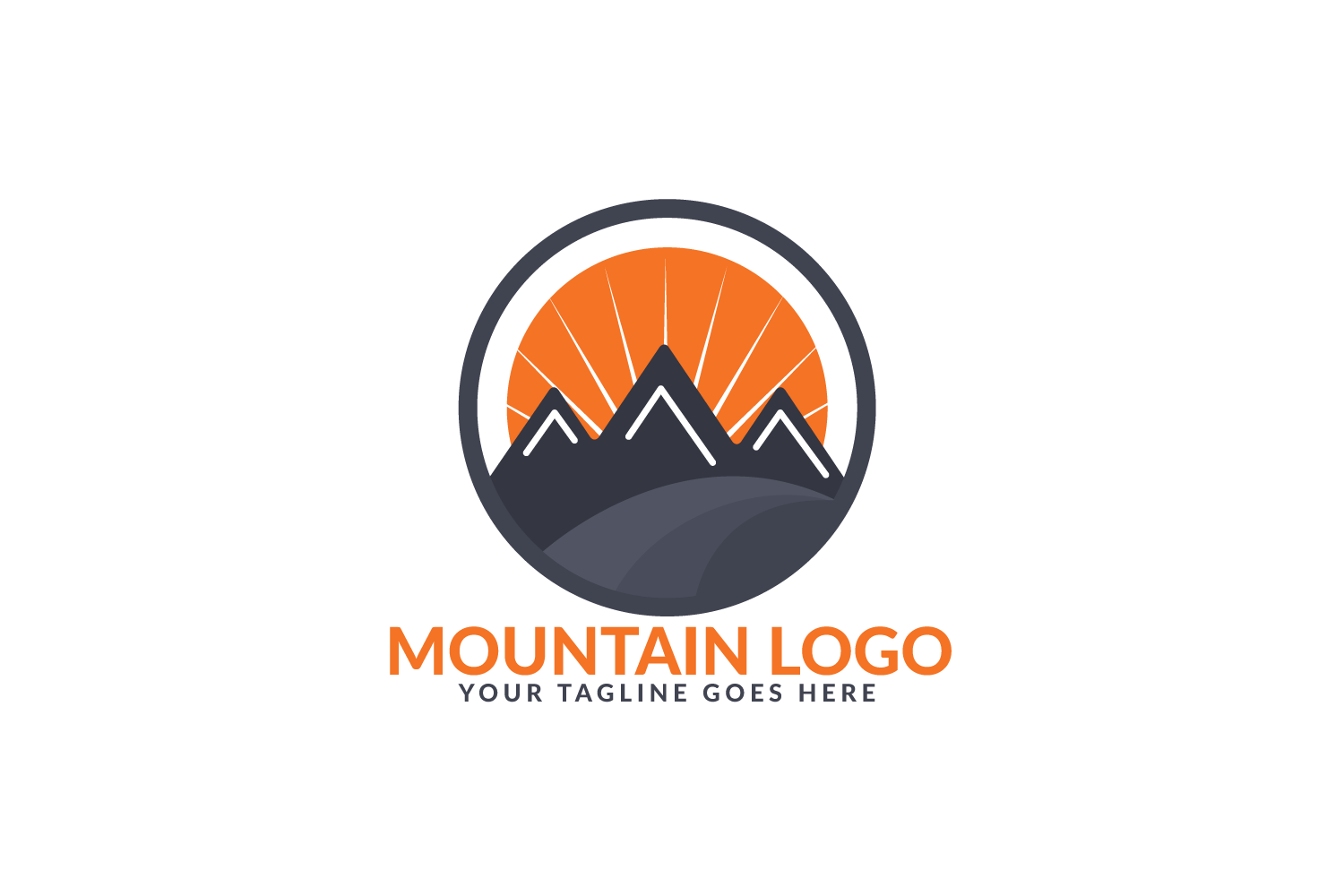 Mountain Logo Design. Travel And Adventure Sign. example image 2