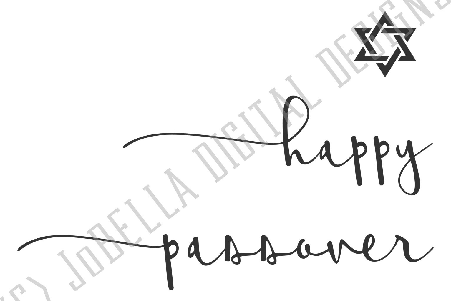 Happy Passover SVG and Printable with Jewish Star example image 2