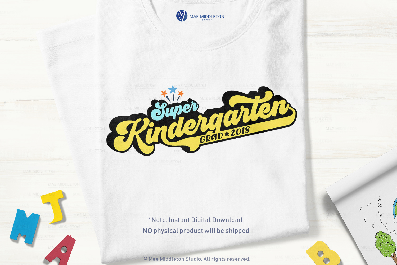 Mini Bundle Preschool, Kinder, Senior Grad - editable years example image 6