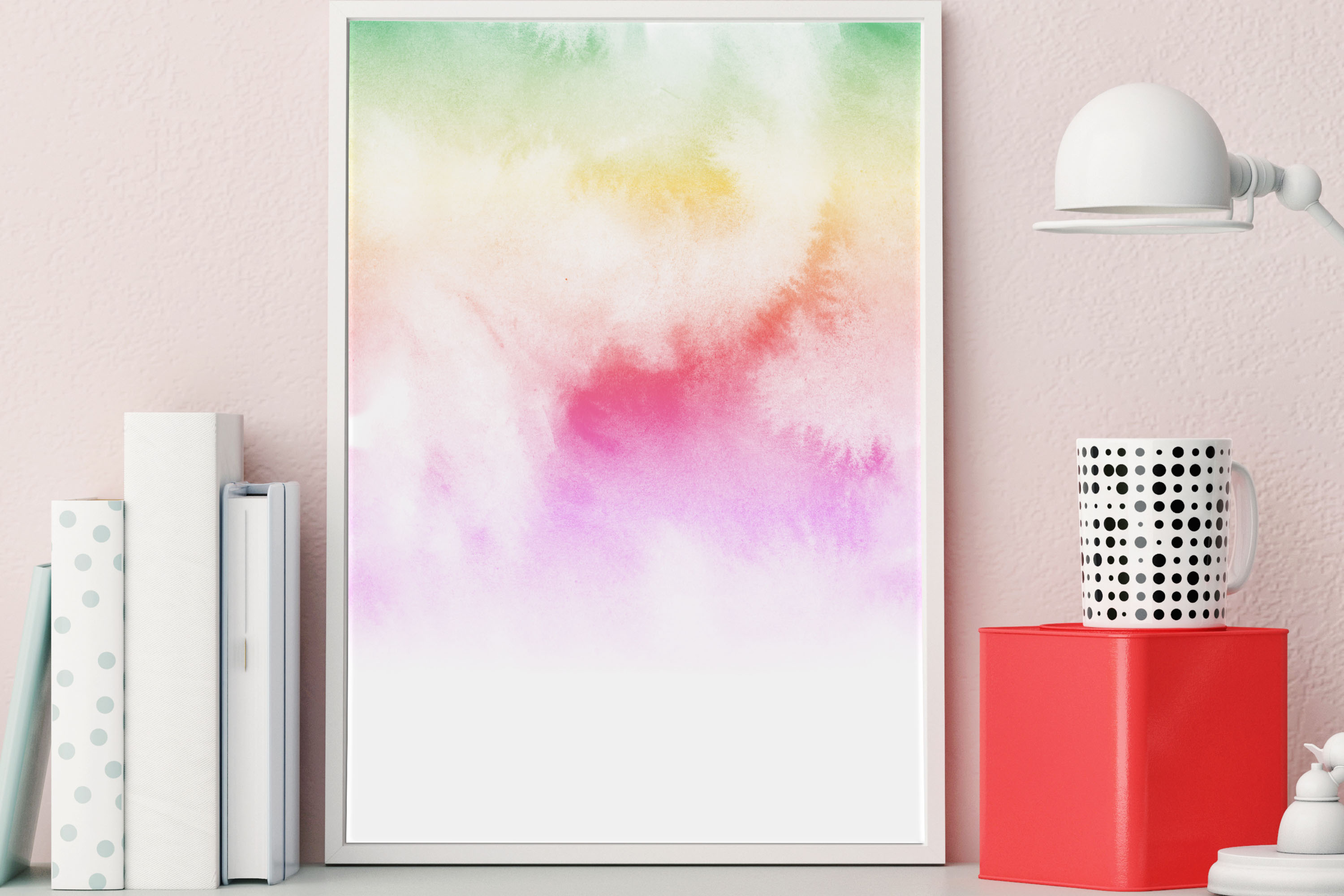 30 Watercolor Fairy Tale Cloudy Sky Baby Shower Paper Images example image 8