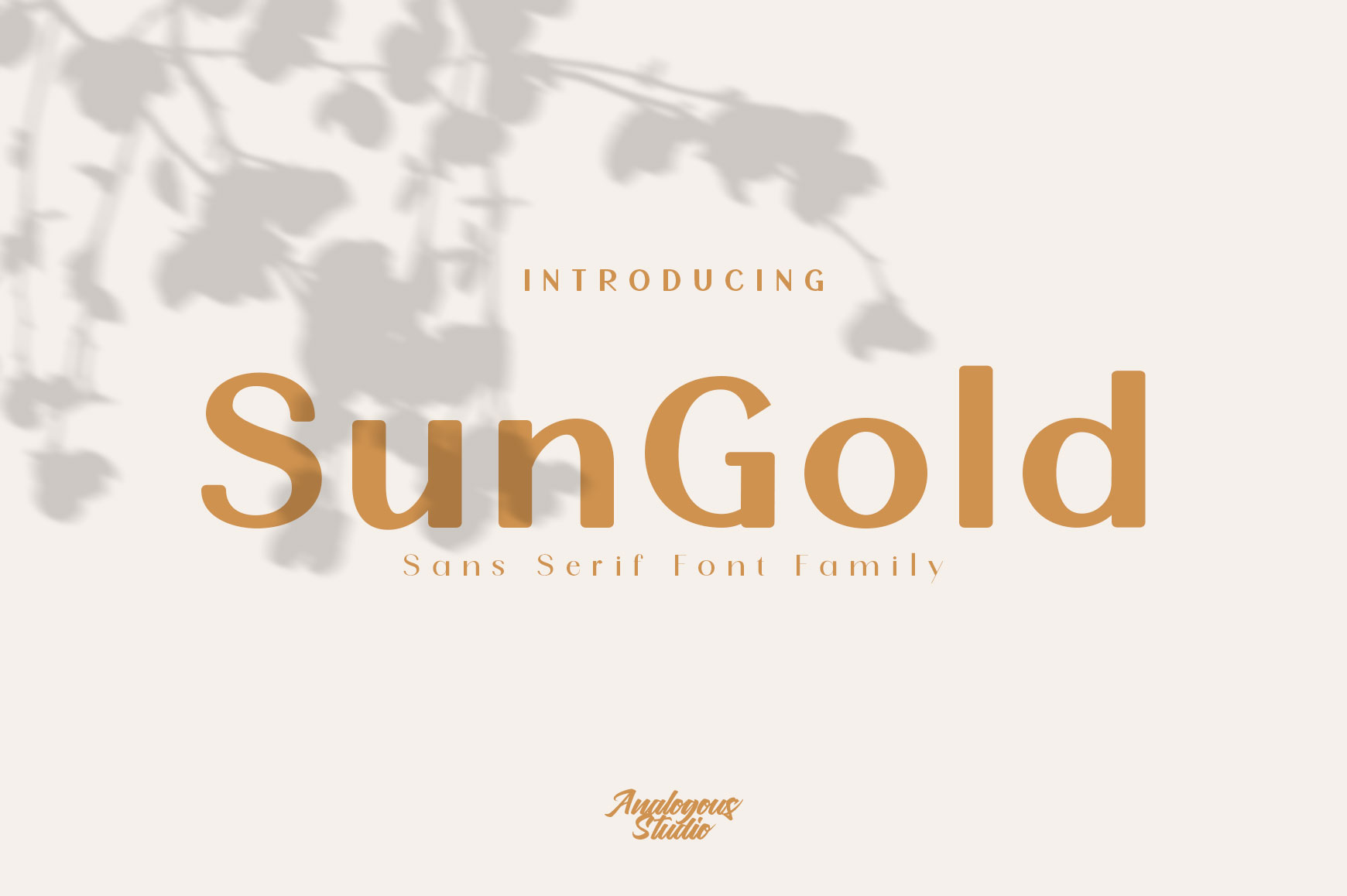 SunGold - Font Family example image 1