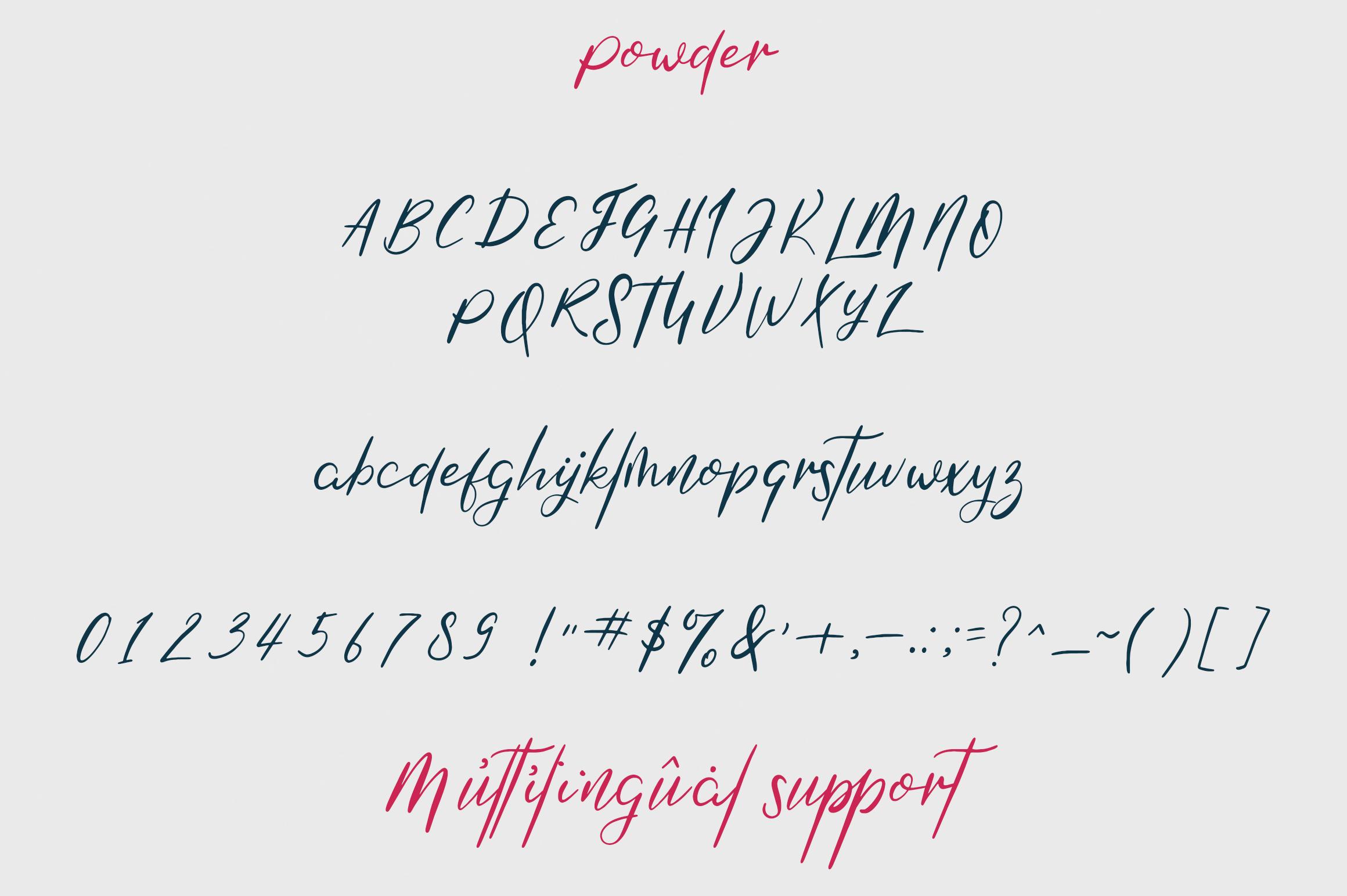 Mooka Powder - font duo example image 10