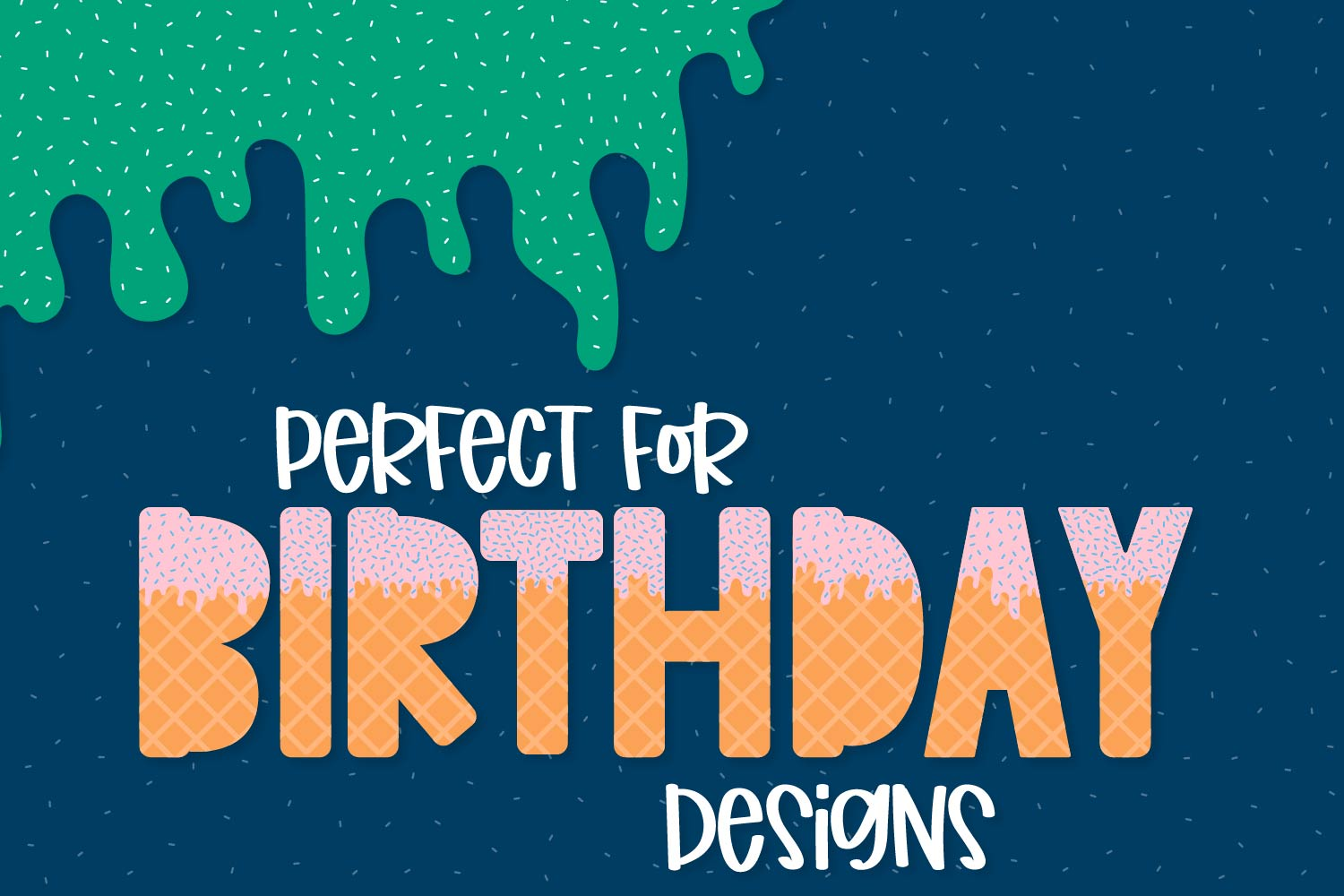 Sprinkles - A Dipped Cone Font For Layering example image 2