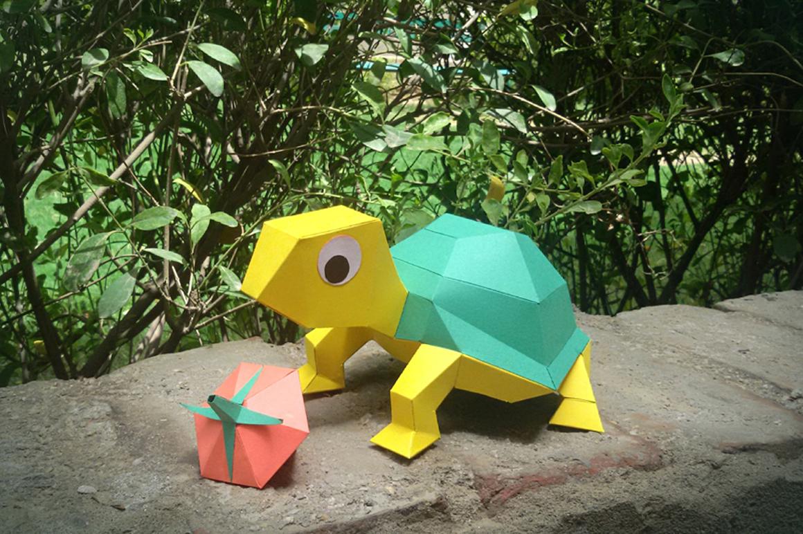 DIY Tortoise - 3d papercraft example image 1