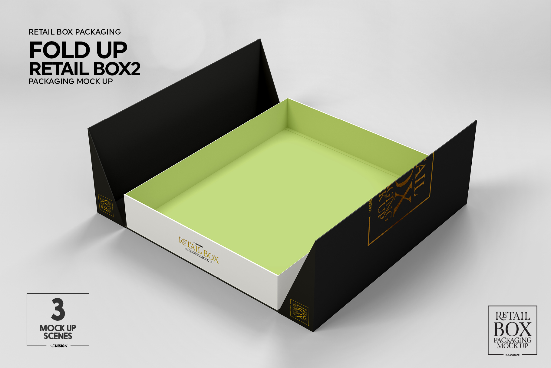 Fold Up Retail Thin Box Packaging Mockup example image 5
