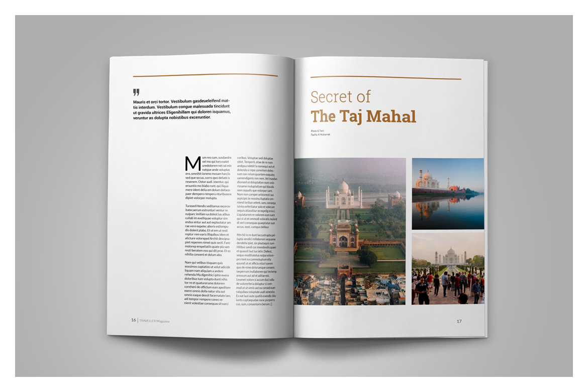 Indesign Magazine Template example image 11