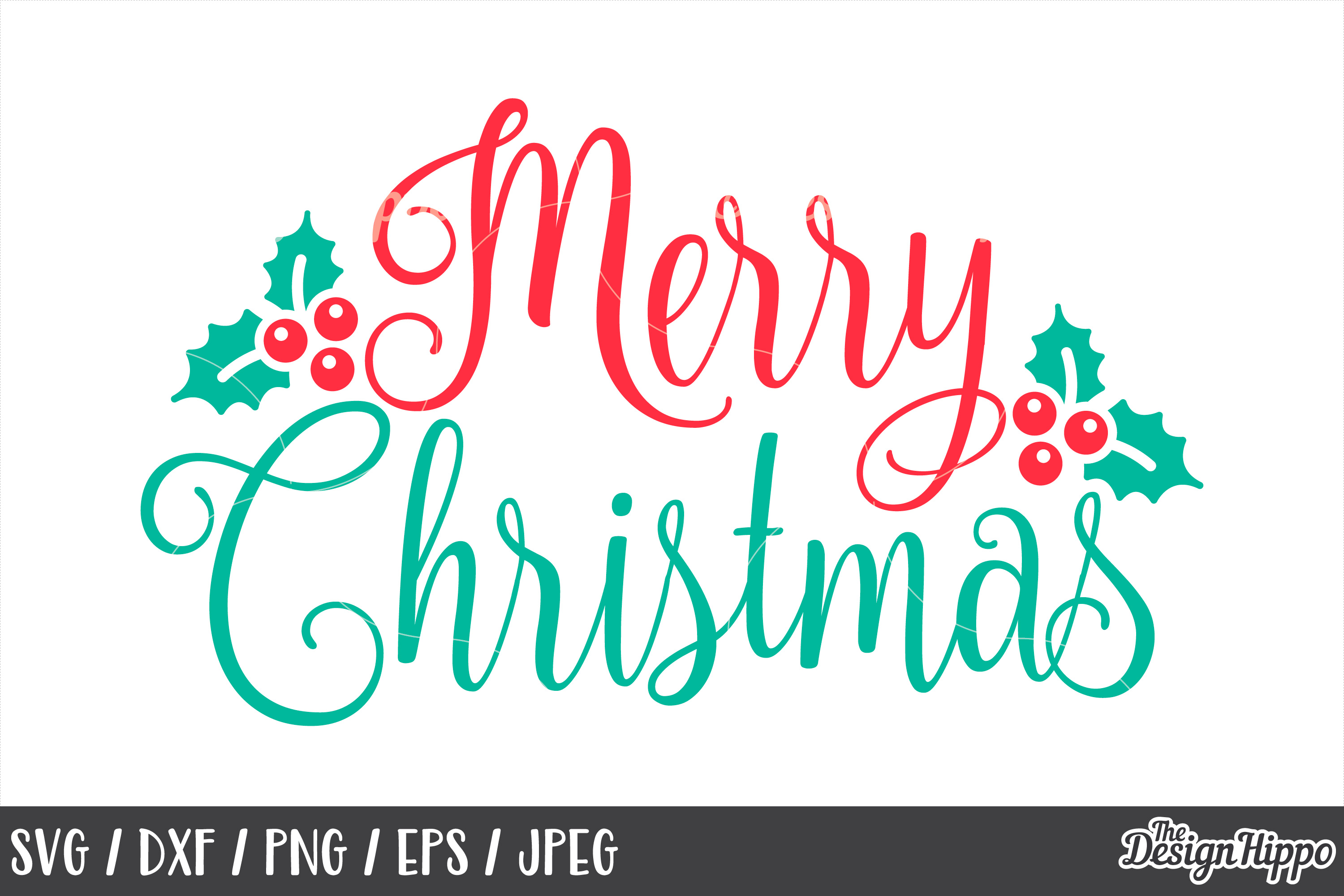 Download Merry Christmas SVG, Mistletoe, PNG, DXF, Cut Files, Cricut