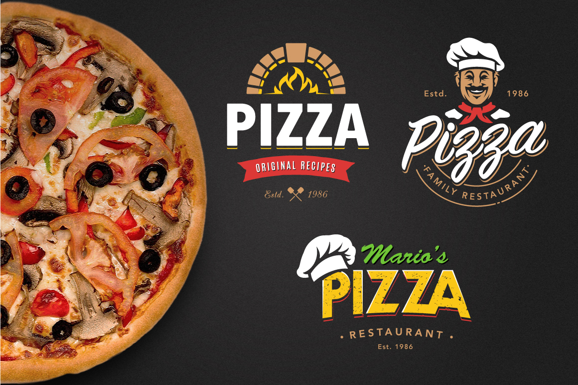 Pizza Logo Templates example image 3