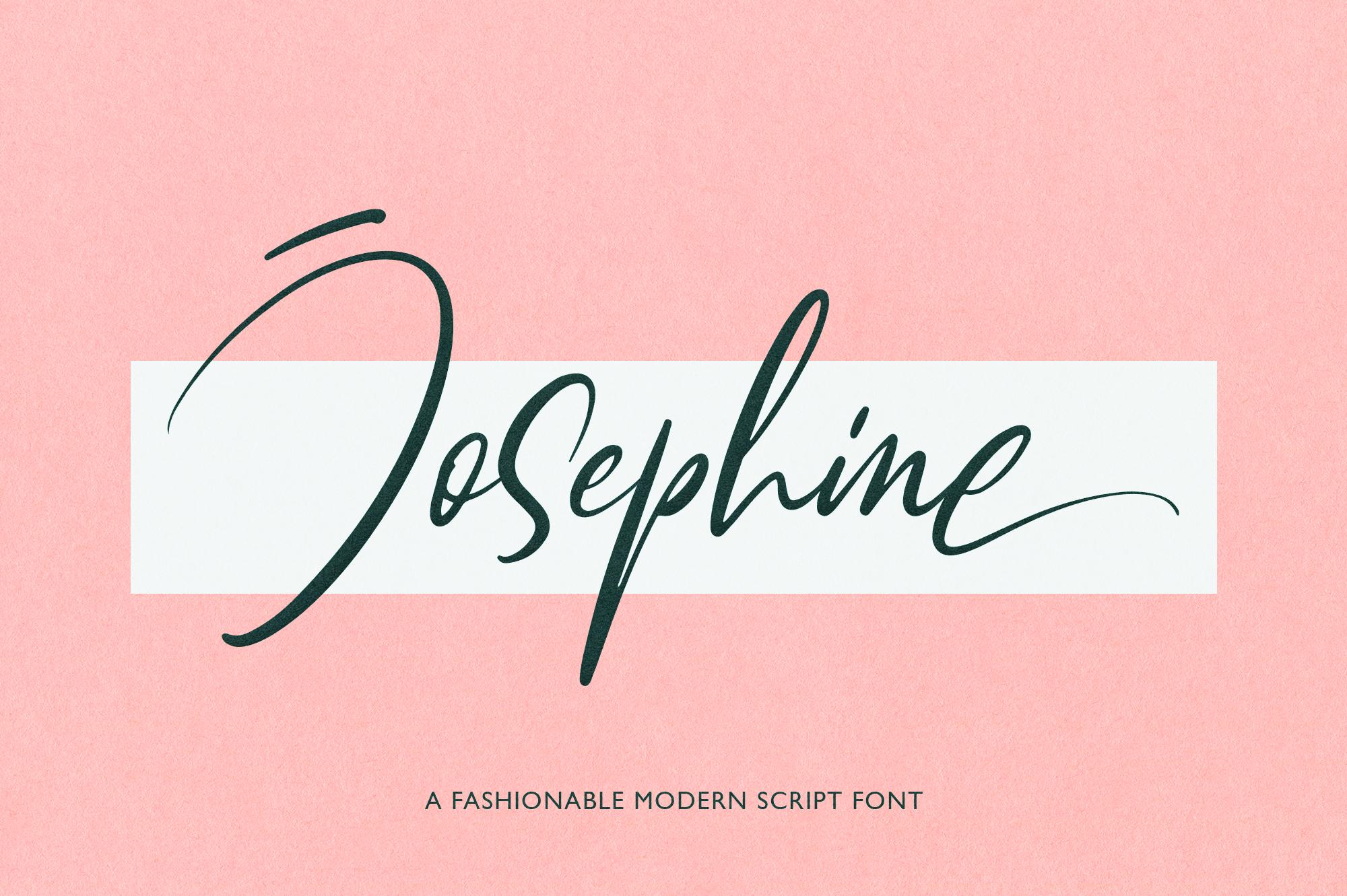 Josephine Fashionable Script Font example image 1
