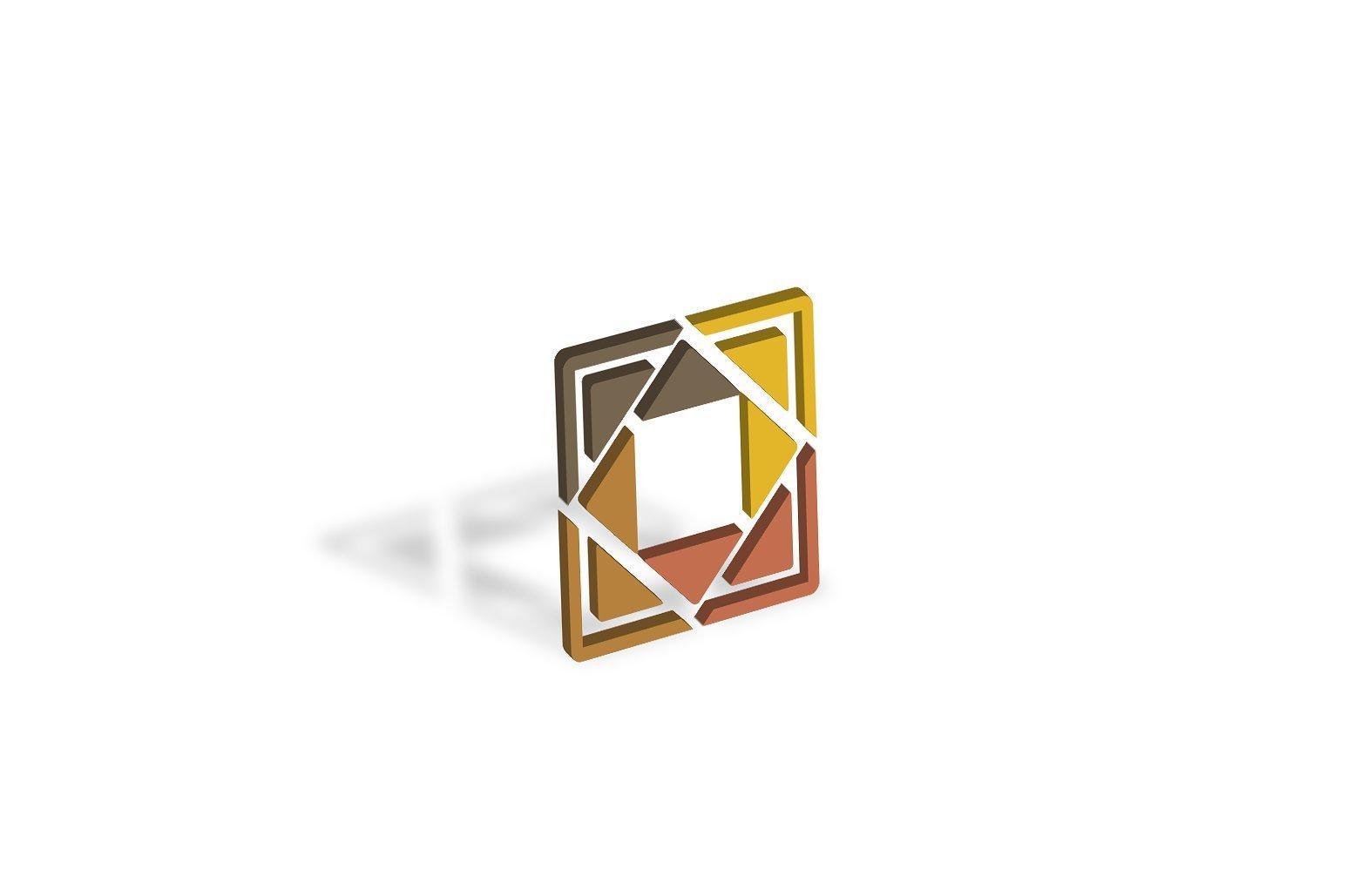 Mosaic & Fragmental Logo Design Set example image 3