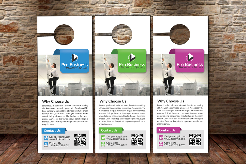 Business Motivation Door Hangers example image 3