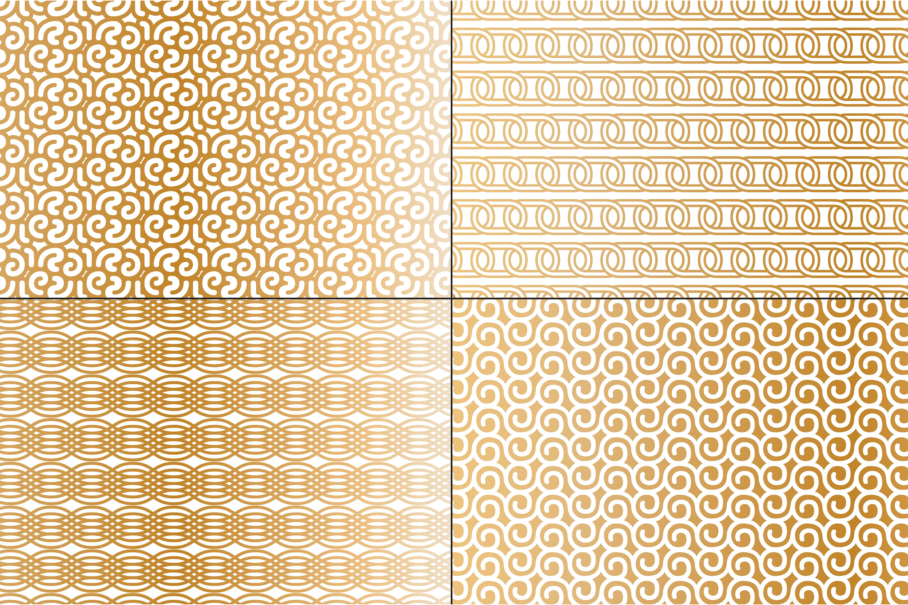 Copper & White Mod Geometrics example image 4