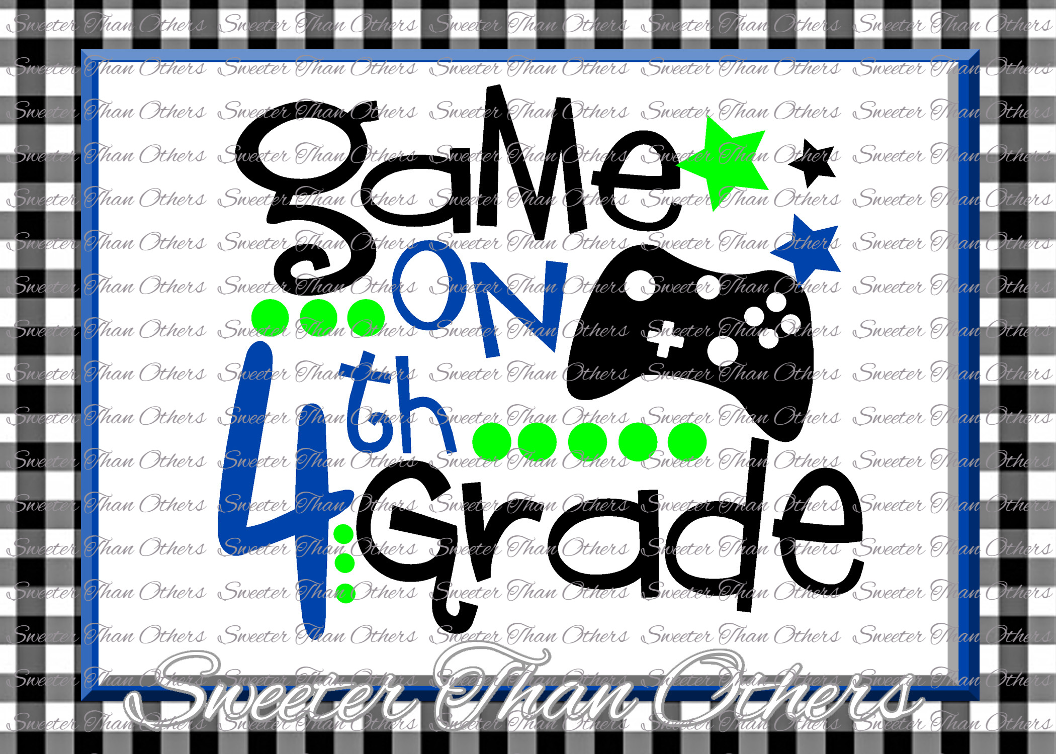Fourth Grade SVG 4th Grade Game On cut file example image 1