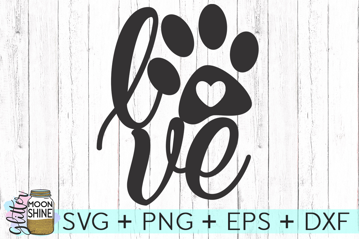 Download Paw Print Love SVG DXF PNG EPS Cutting Files (129625 ...