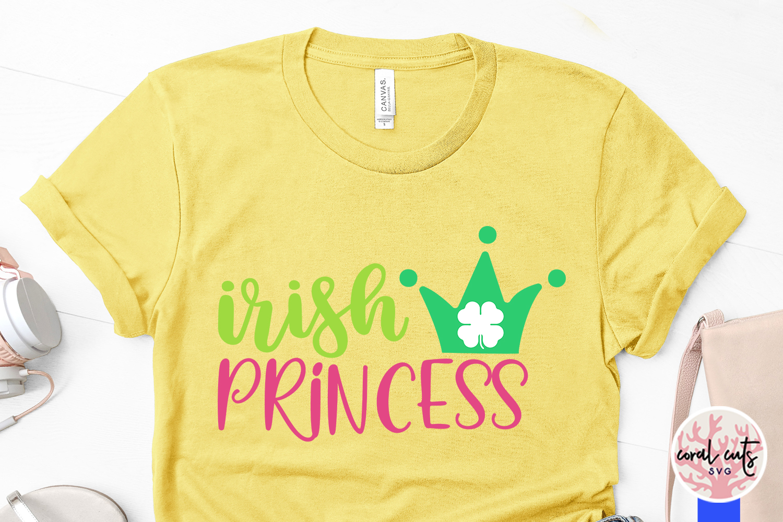 Irish Princess - St. Patrick's Day SVG EPS DXF PNG example image 3