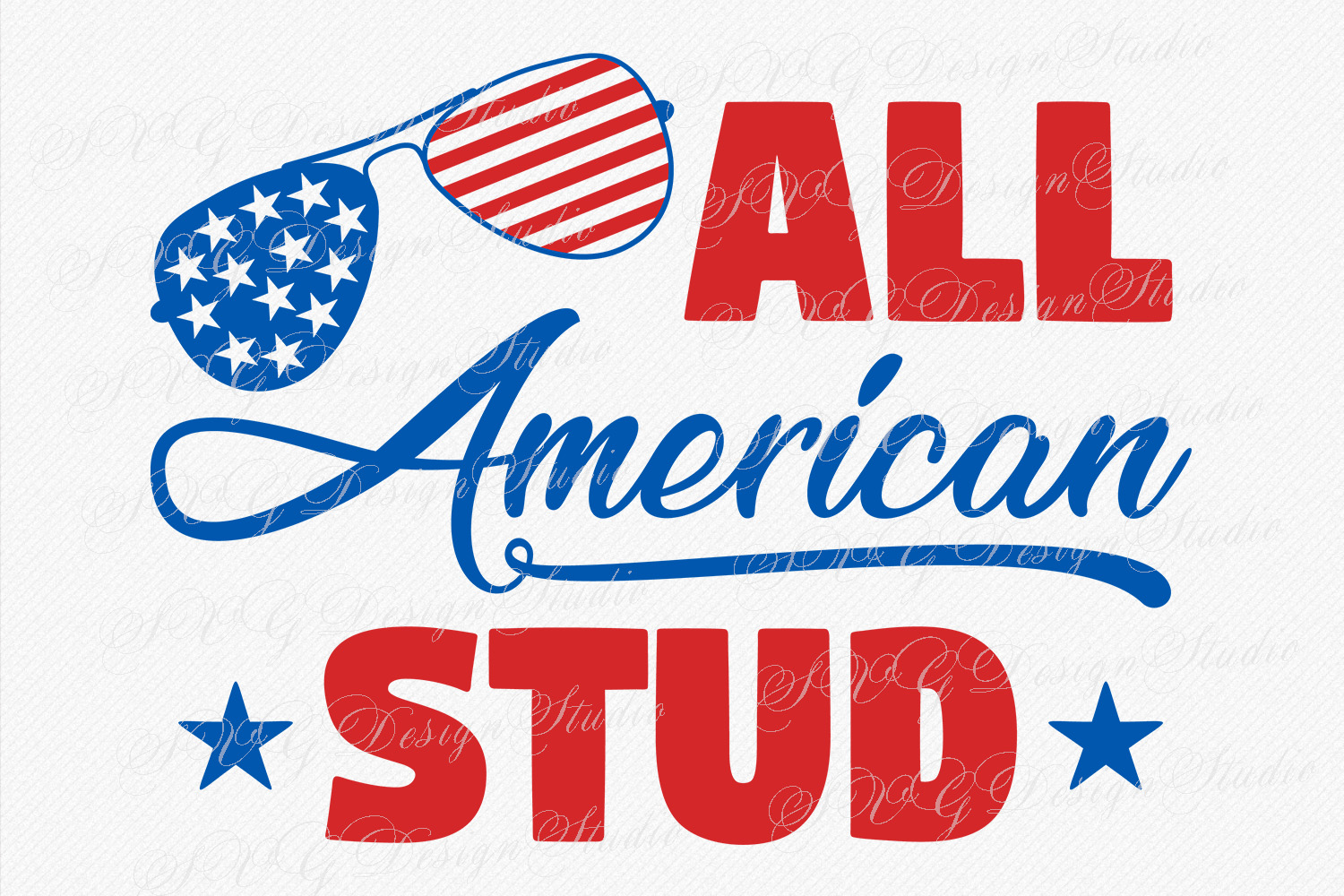 All American Stud, Merica sunglasses flag,America svg, Fourth of July svg, 4th of July Patriotic SVG, T-Shirt Designs example image 1