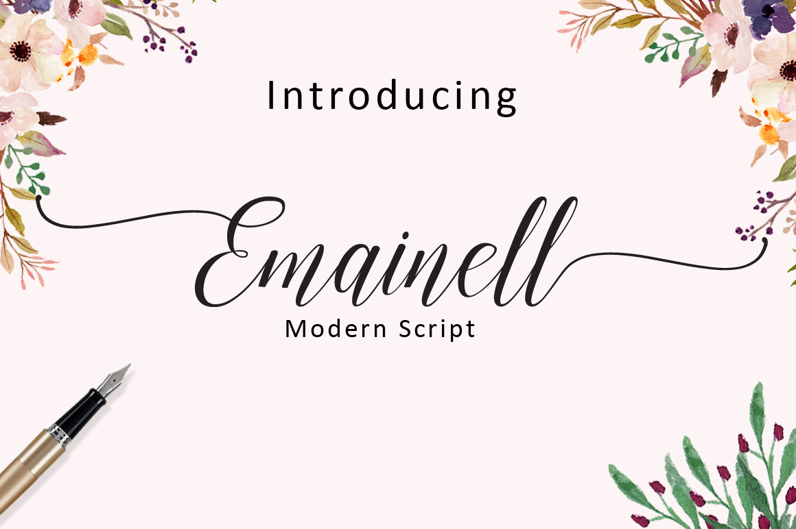 Emainell Script example image 1