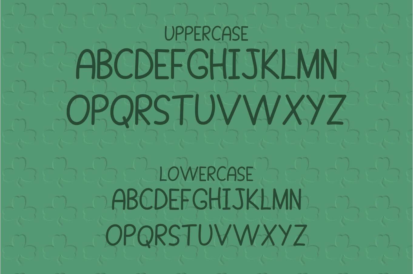 Shamrock Parade - A Lucky Monogram Font example image 2