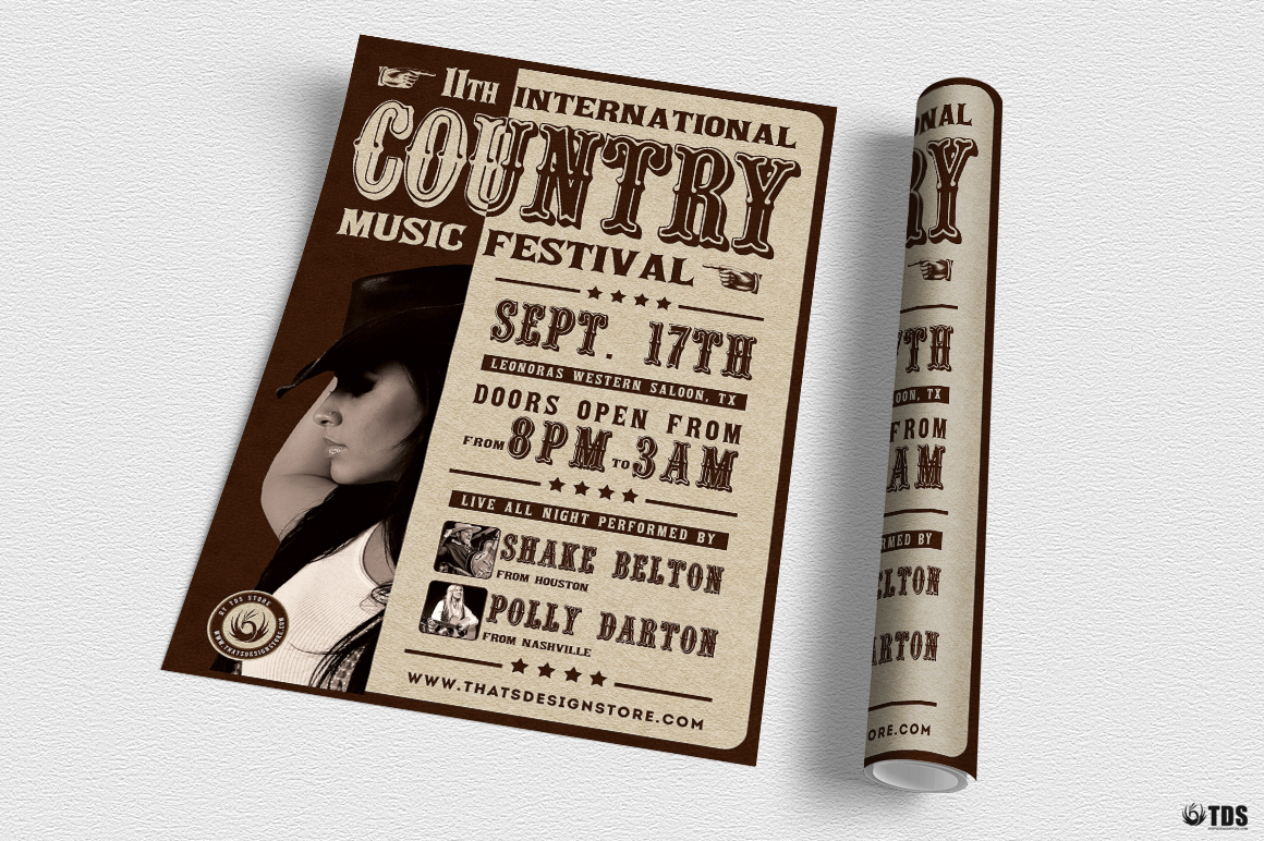 Country Live Flyer Template V7 example image 5