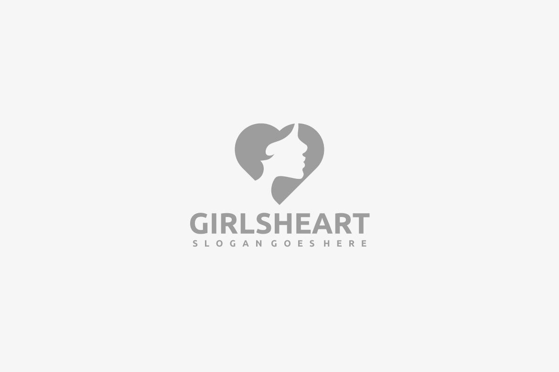 Girl Heart Logo example image 2