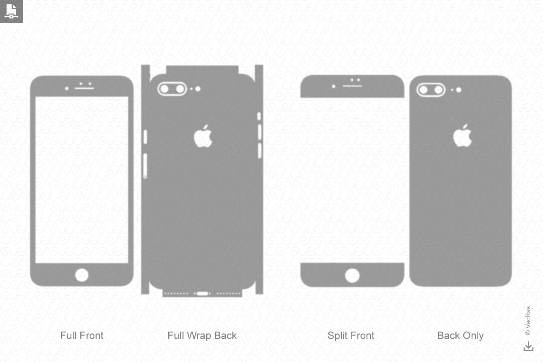 Apple iPhone 7 Plus Vinyl Skin Cut File Template 2016 example image 1