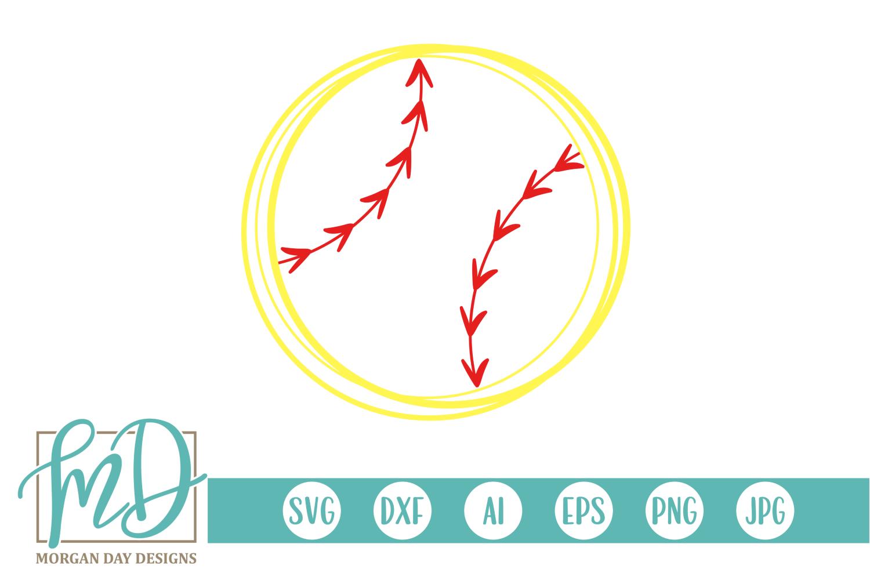 Softball - Softball Outline SVG, DXF, AI, EPS, PNG, JPEG example image 1