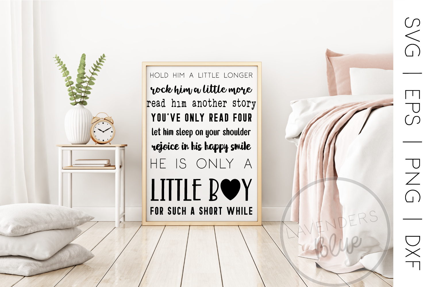 Baby Boy Quote | Poem | SVG |