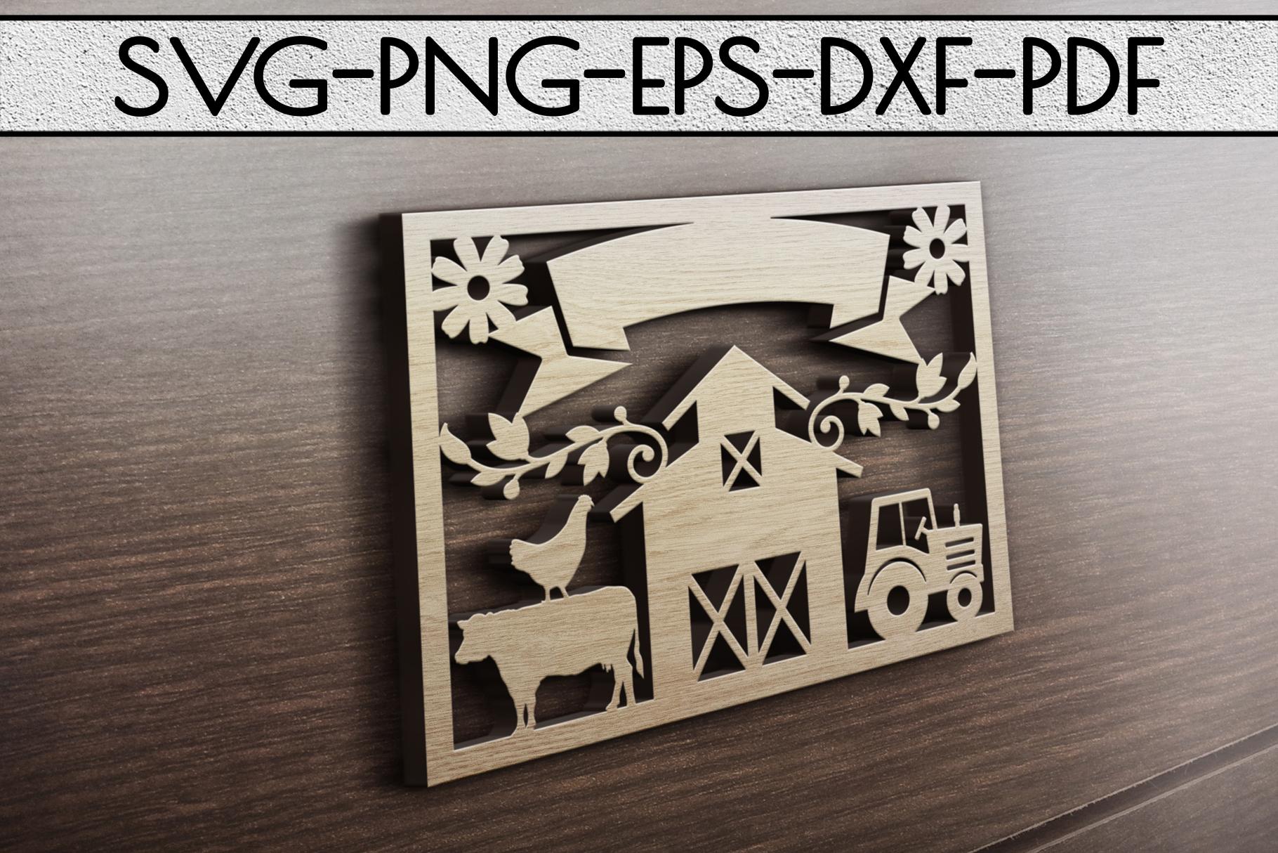 Farm Decor Sign Papercut Templates Bundle, Rustic SVG, DXF example image 4