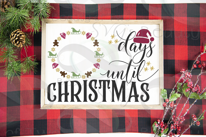 Christmas Farmhouse Countdown svg, Santa Countdown svg, example image 3