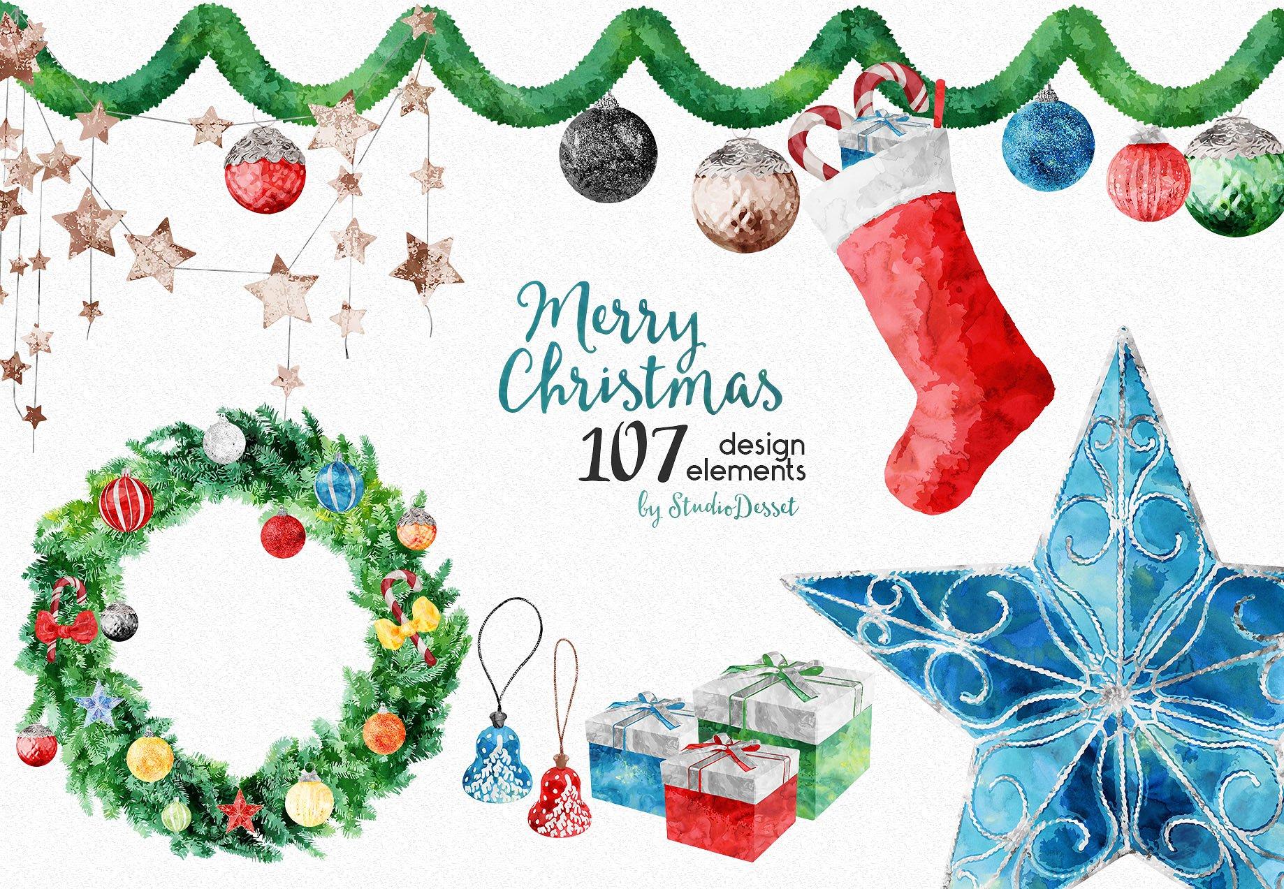Christmas Bundle of Illustrations example image 2