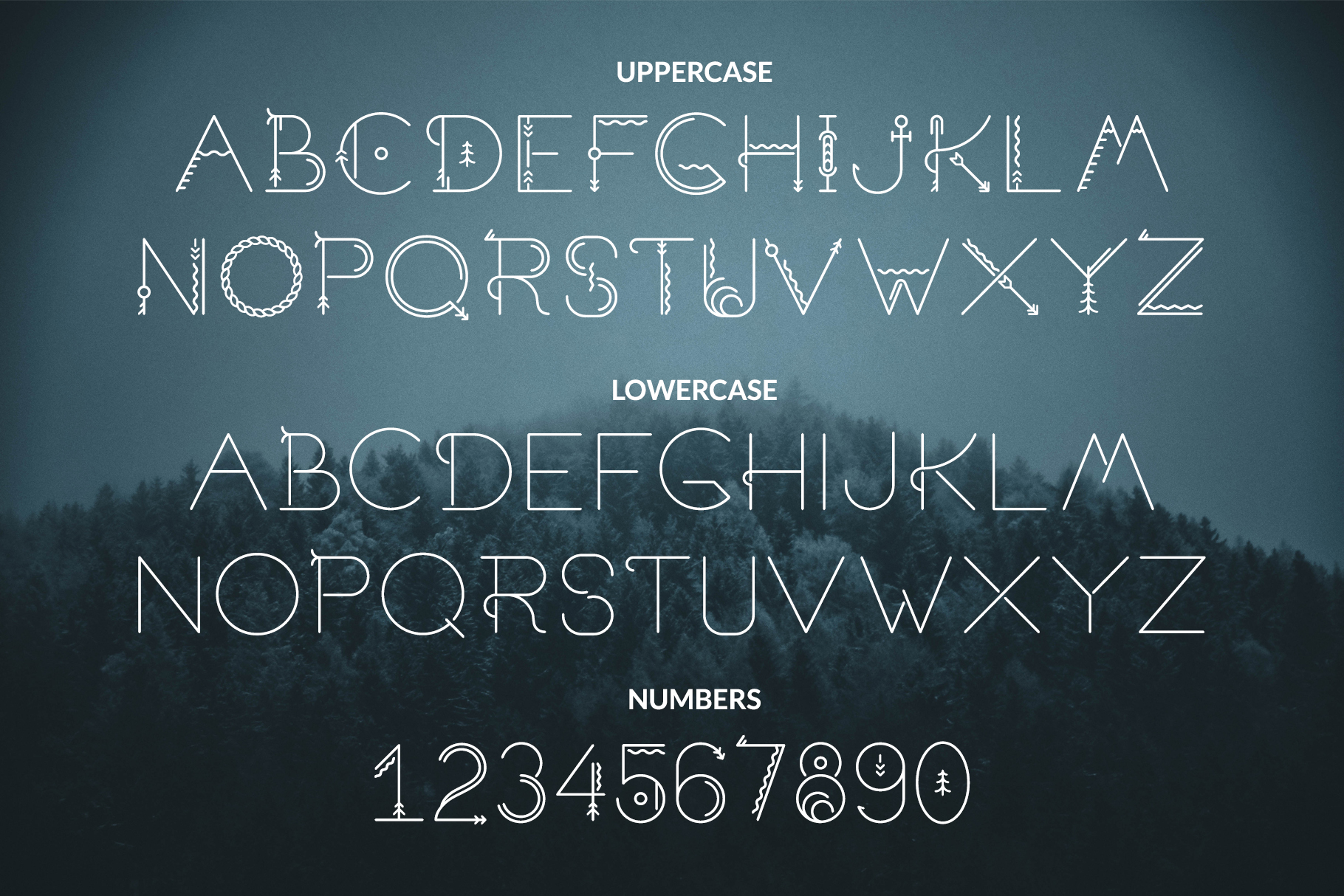 Sacred North Display Font example image 11