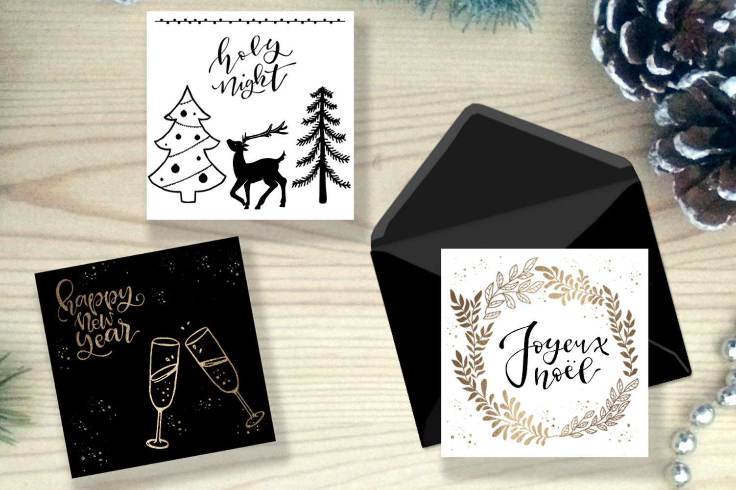 Christmas Collection - words, illustrations, ornaments example image 3