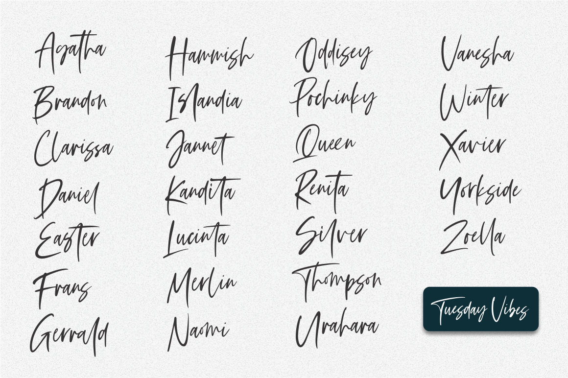 Tuesday Vibes - Handwritten Font example image 4