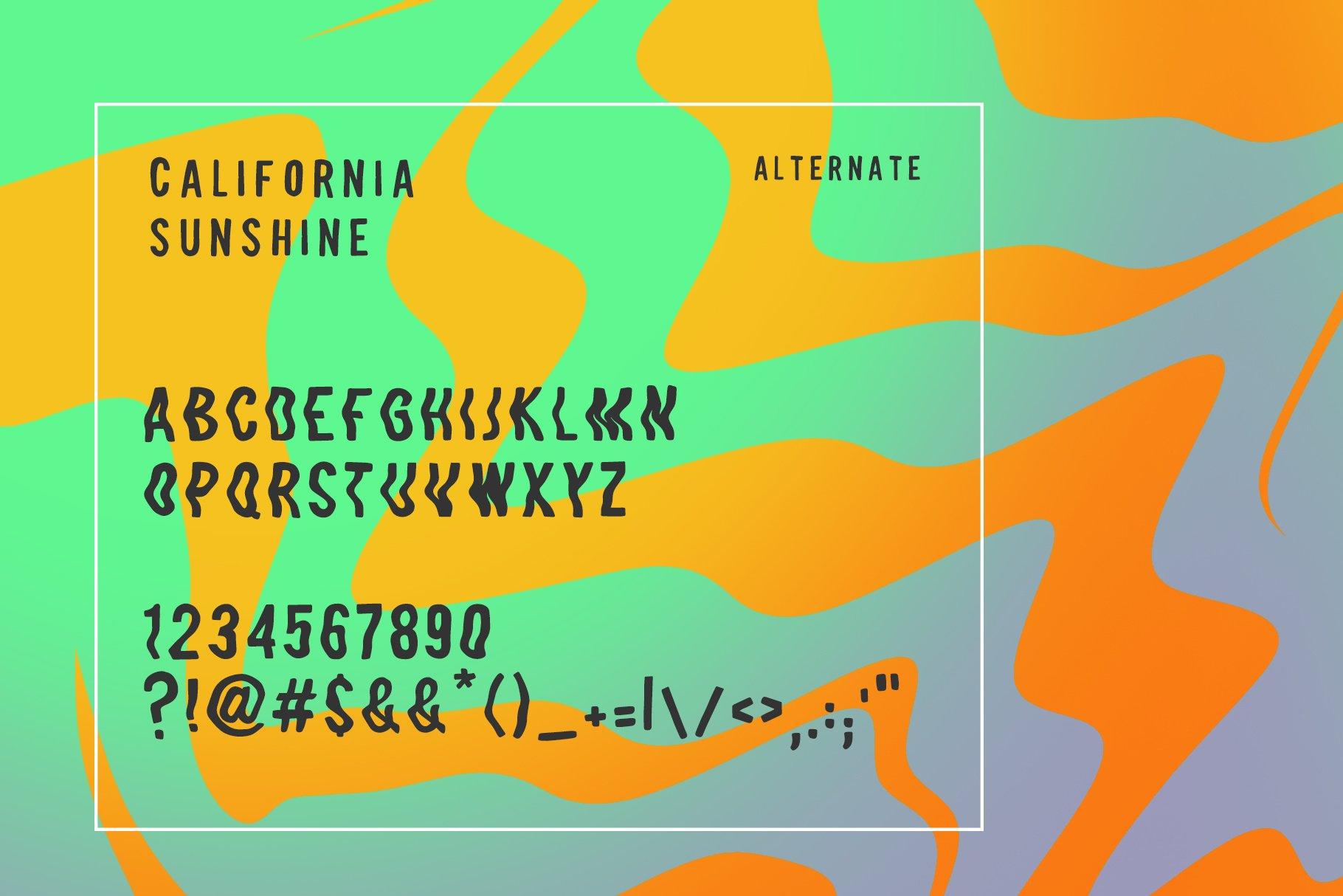 California Sunshine Typeface example image 5