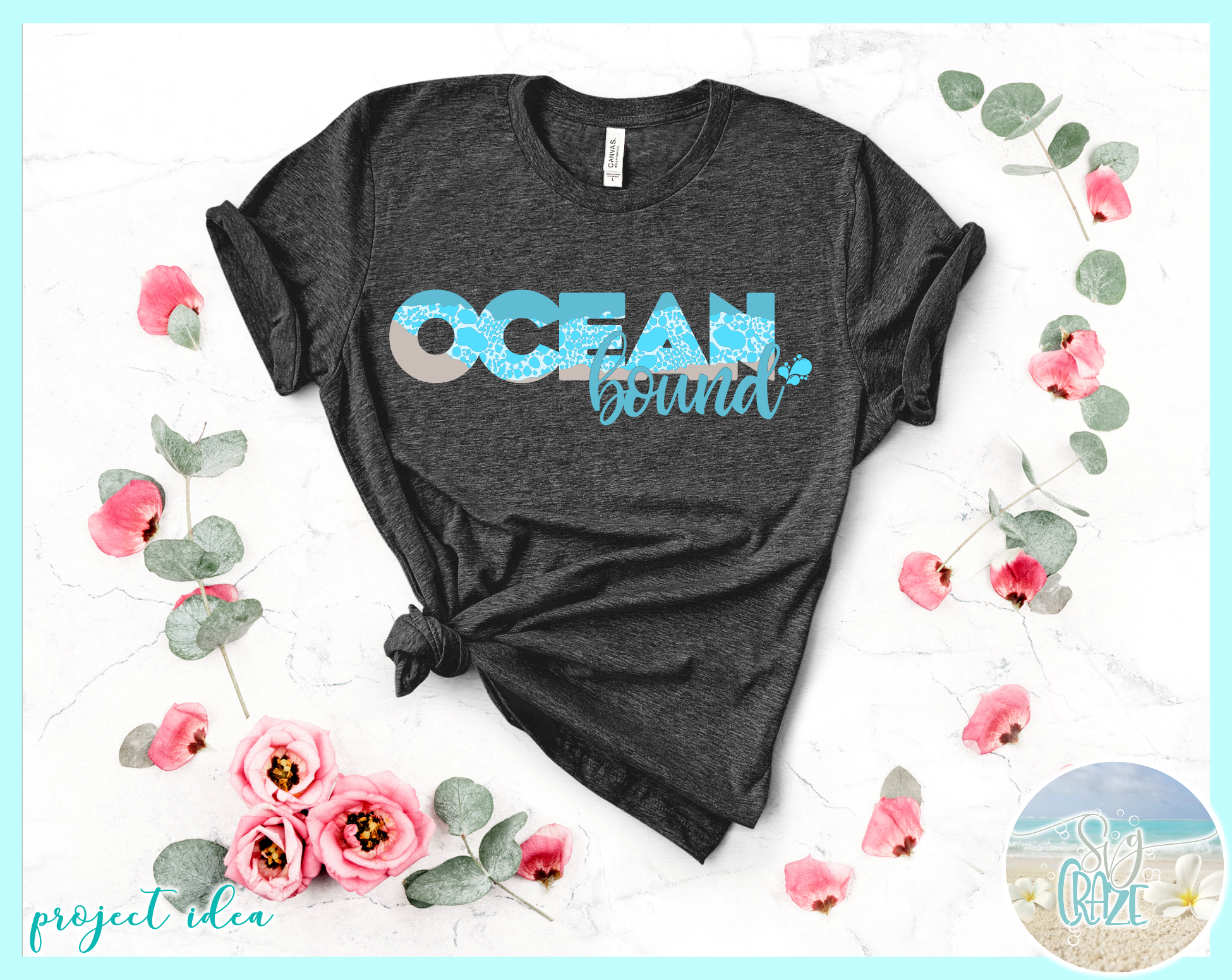 Ocean Bound Svg Dxf Eps Png Pdf Files For Cricut example image 2