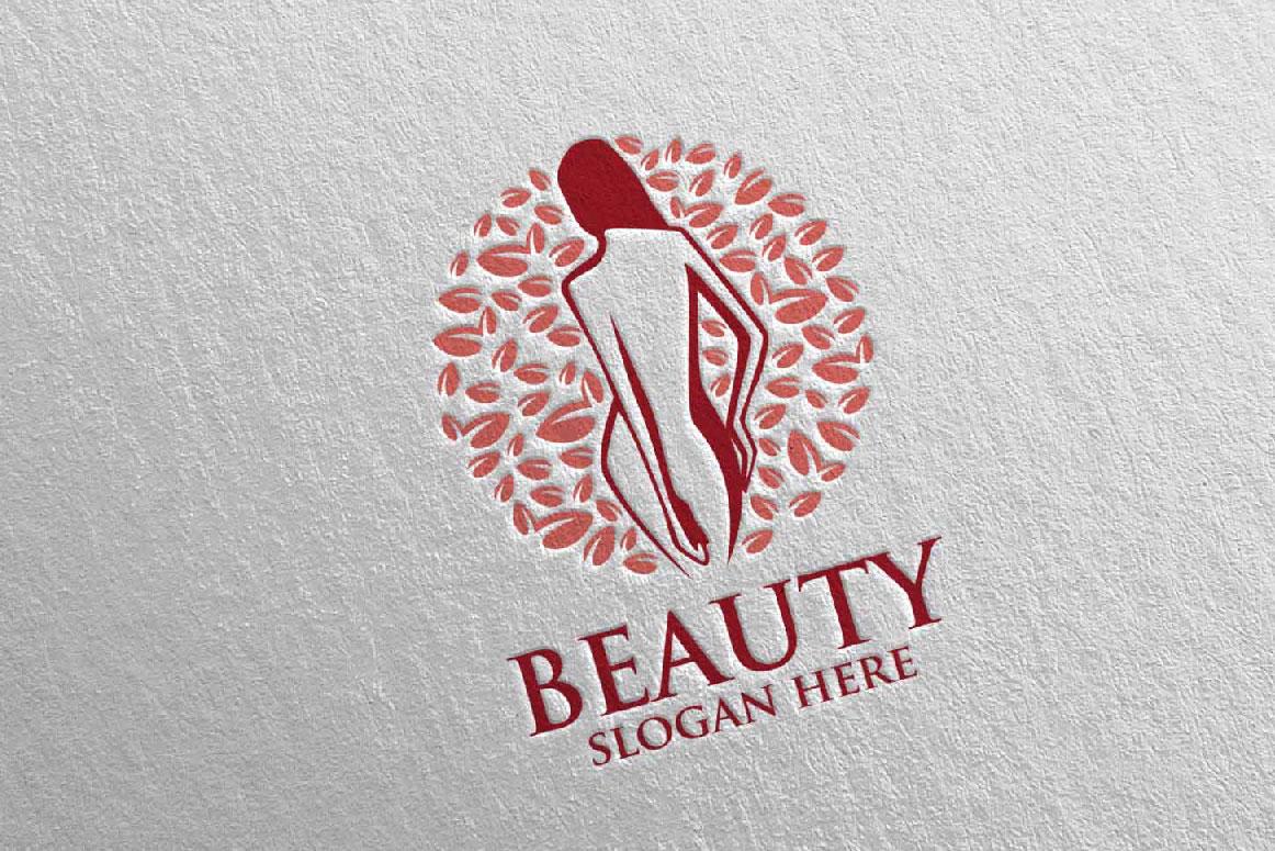 Natural Beauty, Yoga, Fitness, Massage Logo example image 3