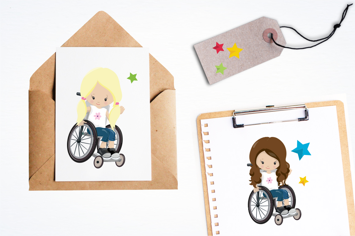 Little Girls graphic and illustrations example image 5