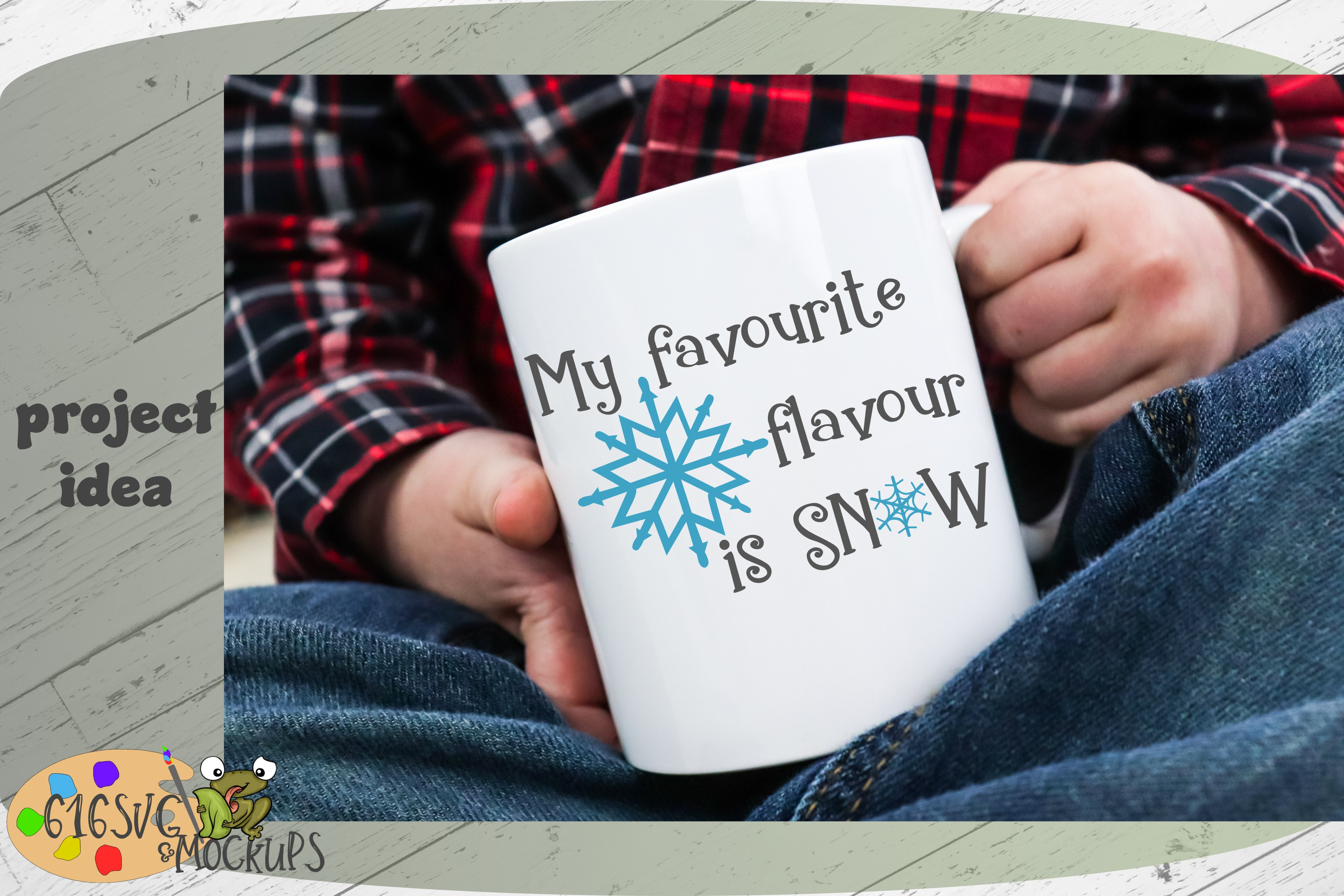 My Favourite Flavour Is Snow SVG example image 2