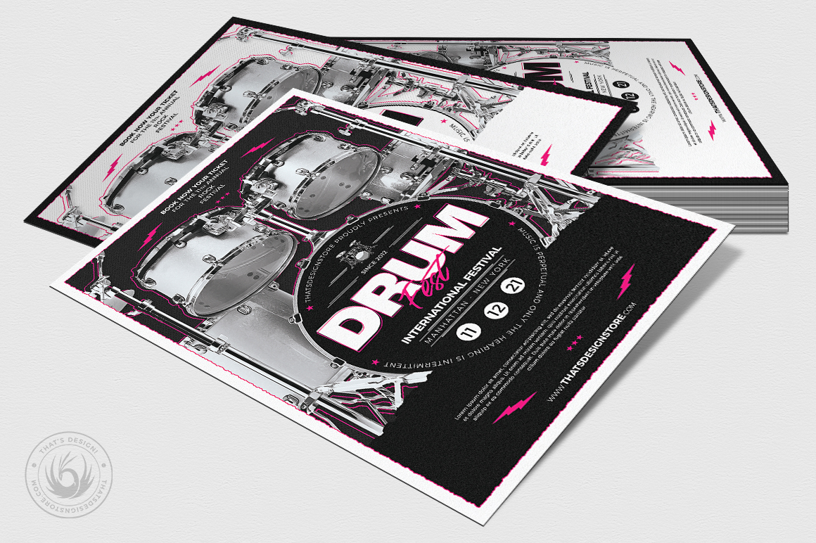 Drum Fest Flyer Template example image 4